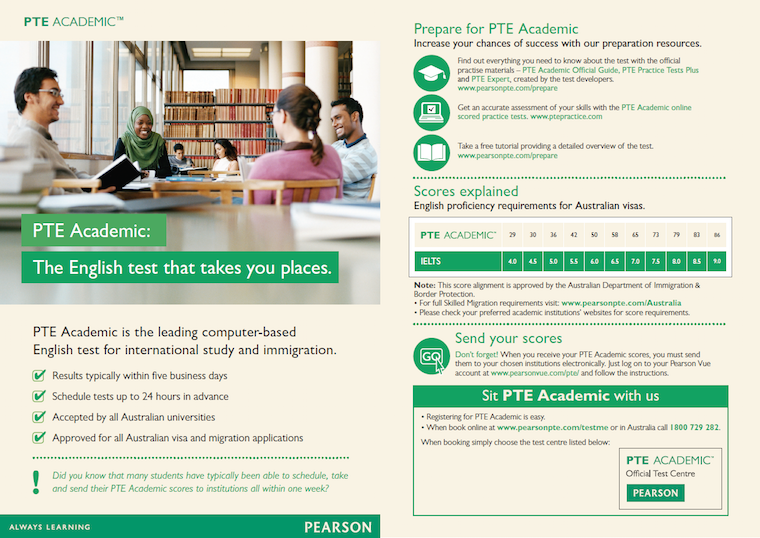 PTE Academic: The English test that takes your place